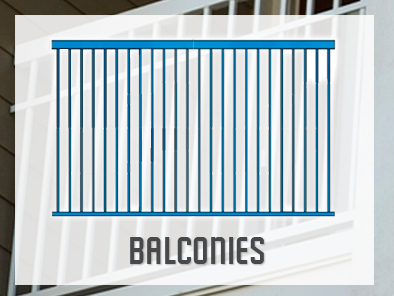 Solid Steel Balconies Fabricator For Contractors
